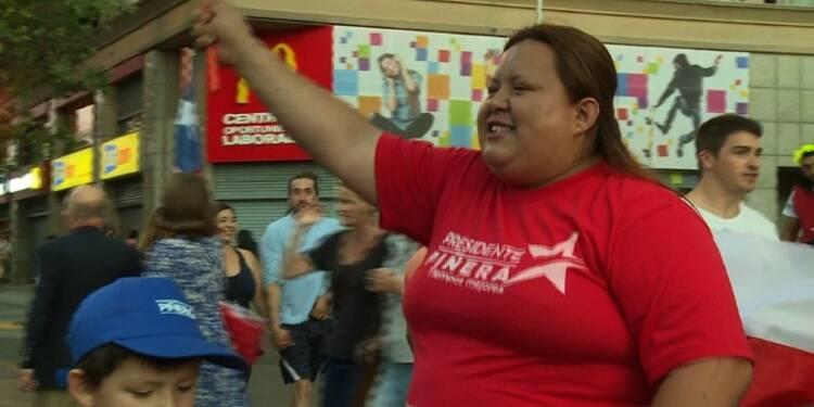 Chili: des partisans de Piñera fêtent sa victoire