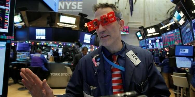 À Wall Street: Un sentiment de prudence pour 2018