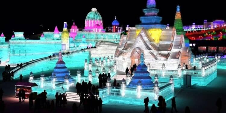 Chine : un festival de sculptures de glace