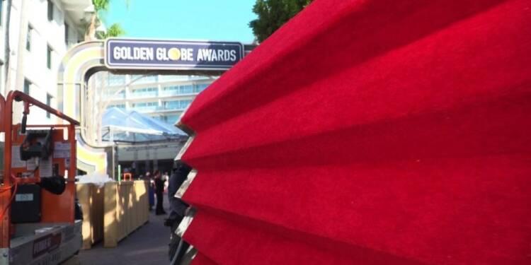 Golden Globes : préparatifs sur le tapis rouge