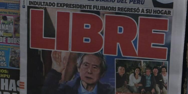 Pérou: réactions mitigées sur la sortie de Fujimori