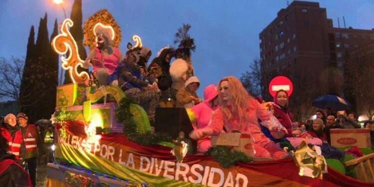 Madrid: un char pour la diversité avant l'Epiphanie