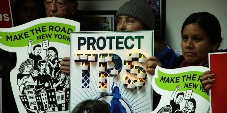 Fin de la protection des Salvadoriens, manifestation à New York