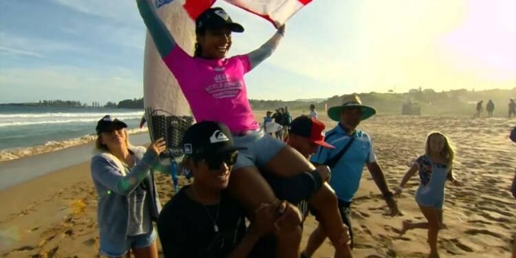 Surf: Vahine Fierro reine des juniors