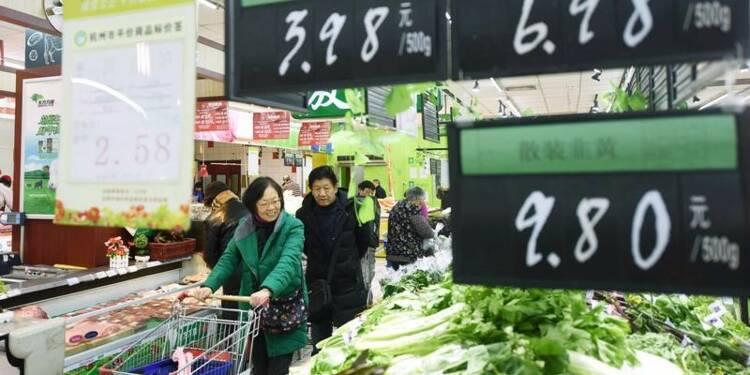 L'inflation en Chine accélère moins que prévu en décembre
