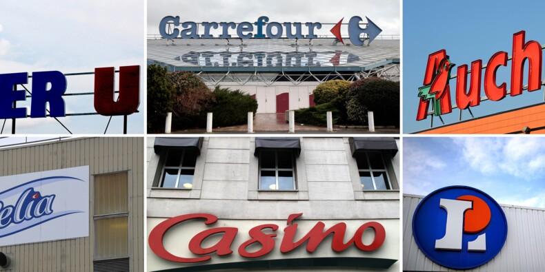 """Achats: alliance """"de taille inédite"""" entre Auchan, Casino et Système U"""