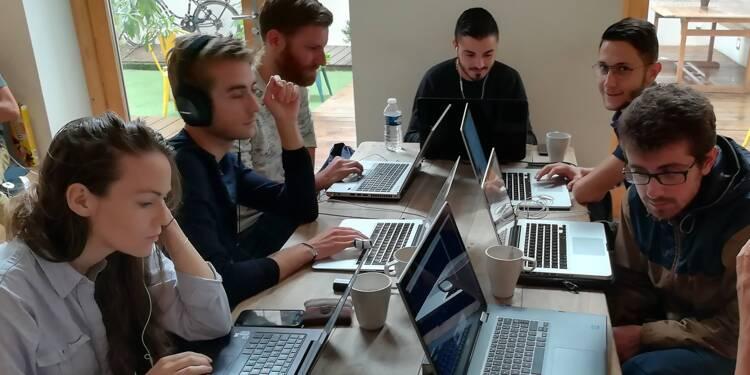 Session de formation d'élèves de The Hacking Project