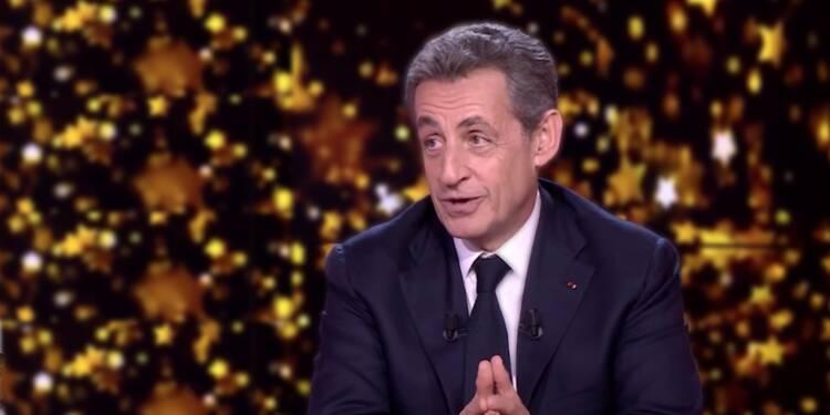 Nicolas Sarkozy sur le plateau de la chaîne L'Equipe - lundi 22 janvier 2018 -