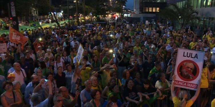 Rassemblement anti-Lula à Sao Paulo
