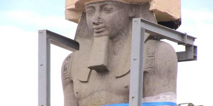 Une statue de Ramsès II transférée au Grand musée d'Egypte