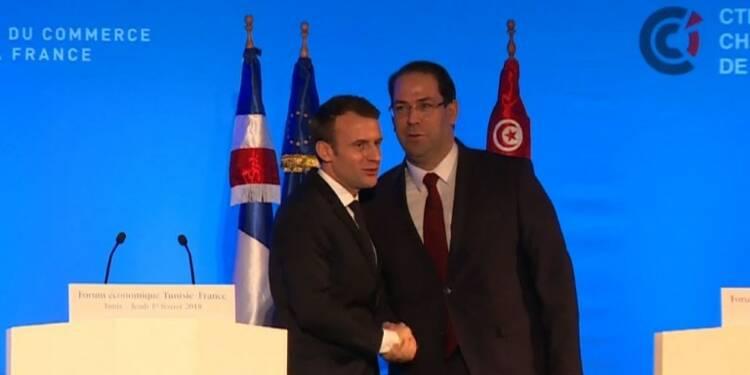 Macron assiste au 'Forum économique Tunisie-France'