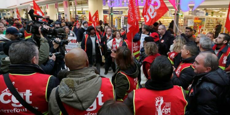 Actions syndicales contre le plan de transformation de Carrefour