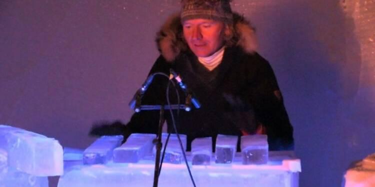 Un festival de musique et d'instruments de glace en Norvège