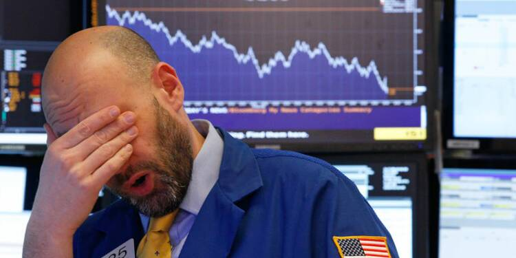 Chute vertigineuse du Dow Jones — Wall Street