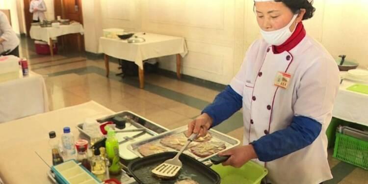 Compétition de cuisine à Pyongyang alors que les JO continuent