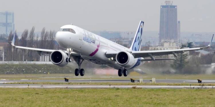 A321neo lors de son premier vol Paris - New-York