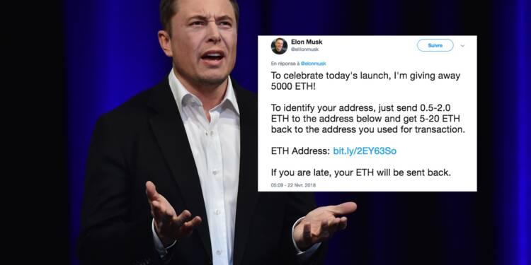 Il imite Elon Musk et détourne une fortune en cryptomonnaies