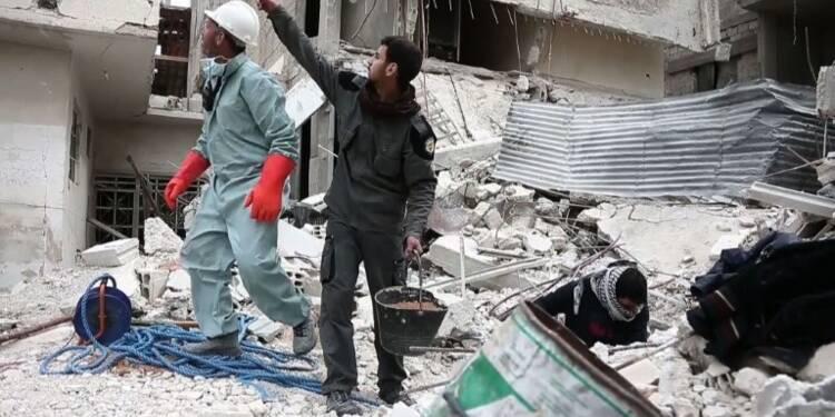 Syrie: dans les sous-sols de la Ghouta, la mort rattrape les civ