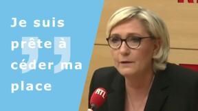 """Marine Le Pen se dit prête """"à céder sa place"""" à la tête du FN"""