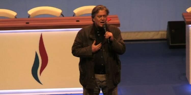 Steve Bannon au congrés du FN à Lille