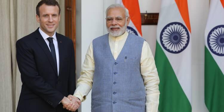 Macron en Inde pour