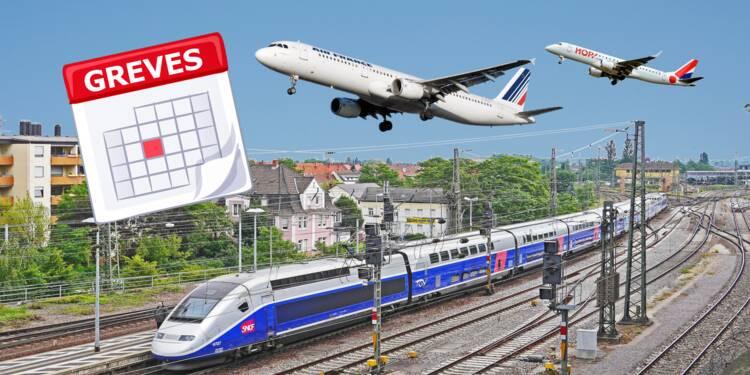 Grève SNCF et Air France : nouvelles dates en avril, le calendrier jusqu'en juin