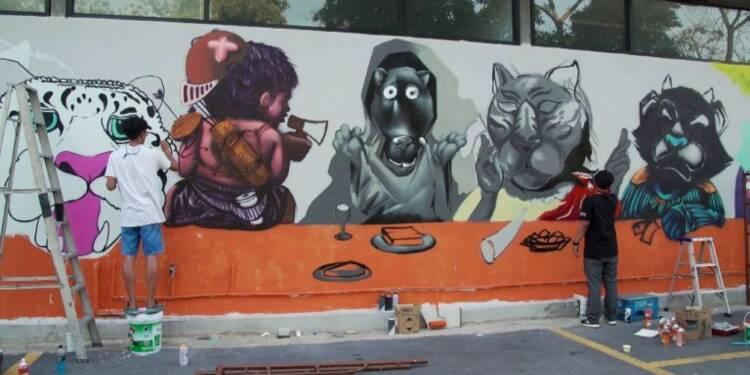 En Thaïlande, le street art à la rescousse des panthères