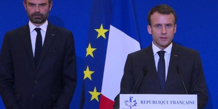 Aude: point presse de Macron après la réunion de crise (3)