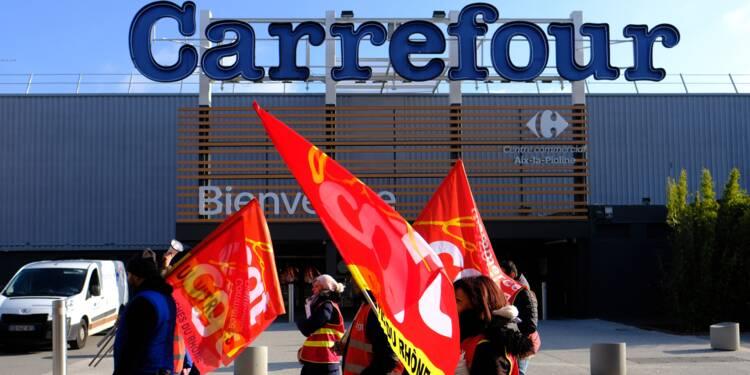 """Grève """"exceptionnelle"""" à Carrefour face aux """"attaques de la direction"""""""