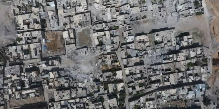 Images de drone montrent la destruction dans Douma