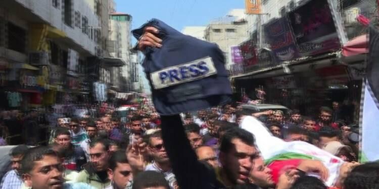 Gaza: funérailles d'un journaliste tué à la frontière