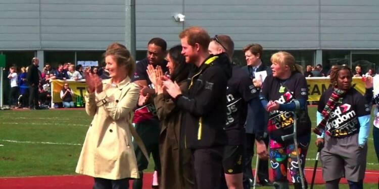 Le prince Harry et Meghan Markle assistent aux essais Invictus