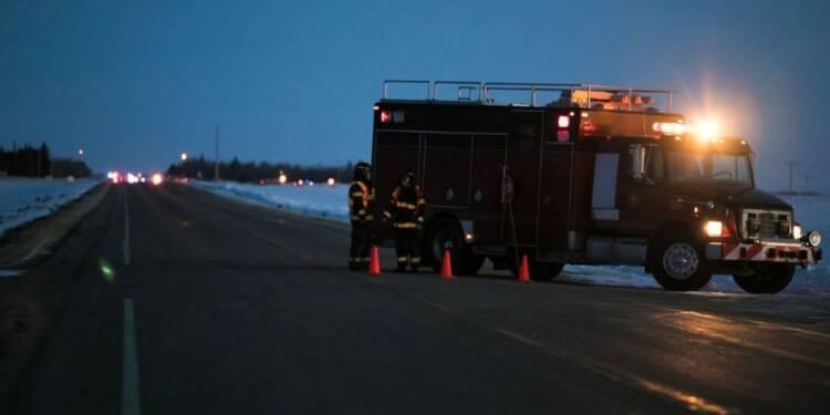 Canada: les secours sur place après l'accident de car