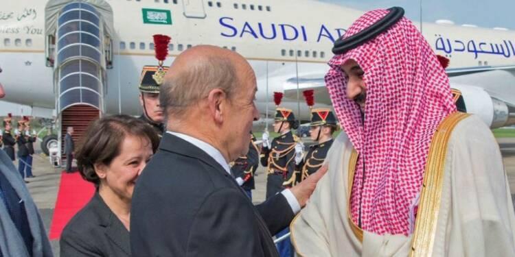 Le prince héritier saoudien est arrivé en France