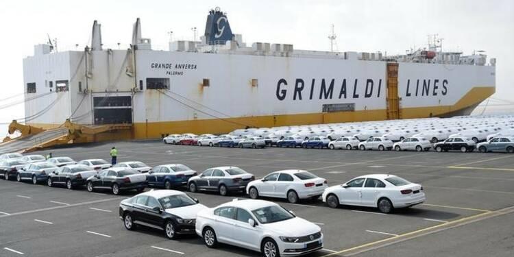 Allemagne: Les exportations en baisse, la plus forte depuis 2015