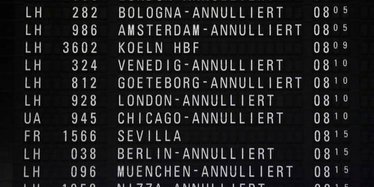 Grèves en Allemagne, quatre aéroports touchés, dont Francfort