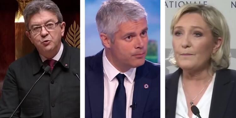 Jean-Luc Mélenchon / Laurent Wauquiez / Marine Le Pen
