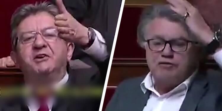 Jean-Luc Mélenchon et Gilbert Collard