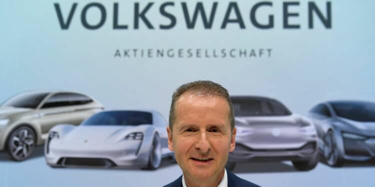 Volkswagen sur la bonne voie malgré un 1er trimestre en baisse, dit Diess