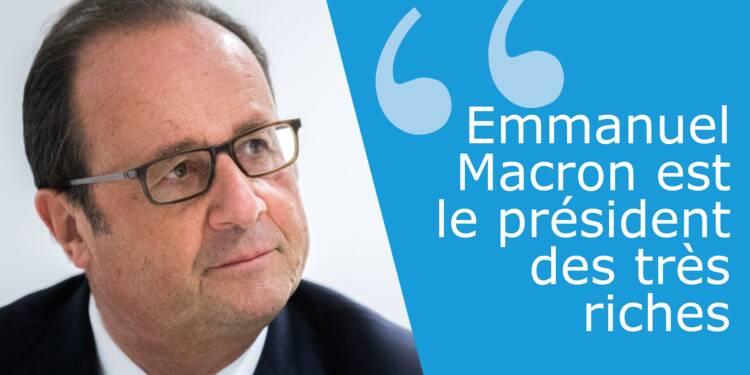 """François Hollande a-t-il raison d'affirmer que Macron est le """"président des très riches"""" ?"""