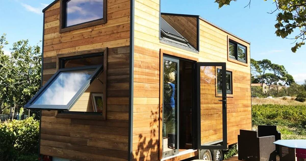 les maisons roulettes tiny houses sont en plein boom voici comment les installer. Black Bedroom Furniture Sets. Home Design Ideas