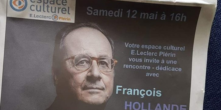 François Hollande moqué à cause d'une dédicace dans un Leclerc
