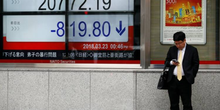 Tokyo finit en repli malgré la hausse des banques