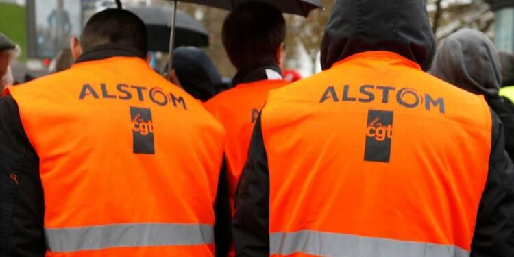 Journée de mobilisation dans les sites d'Alstom et Siemens