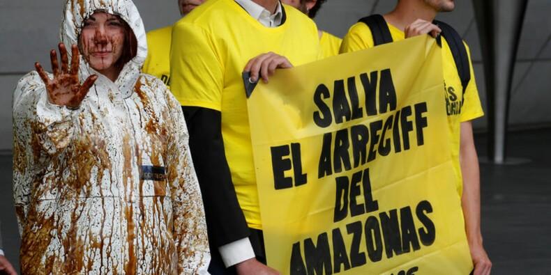 Total: Greenpeace perturbe l'AG pour dénoncer le projet amazonien