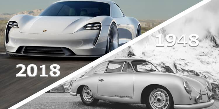Porsche Mission E, fraîchement baptisée Taycan et la Porsche Type 356
