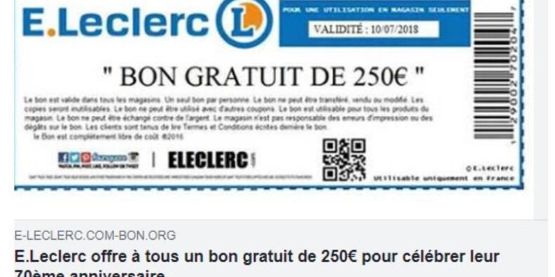 Le faux bon d'achat Leclerc qui piège les internautes