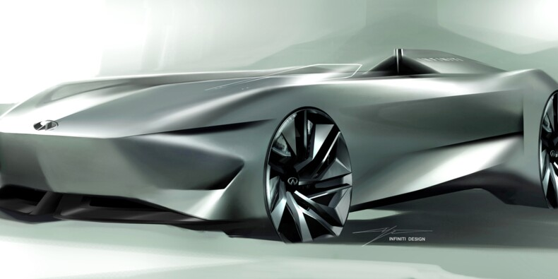 Infiniti Prototype 10 : l'étonnant concept-car monoplace électrique du concours d'élégance de Pebble Beach