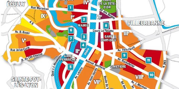 Immobilier à Lyon : la carte des prix 2018