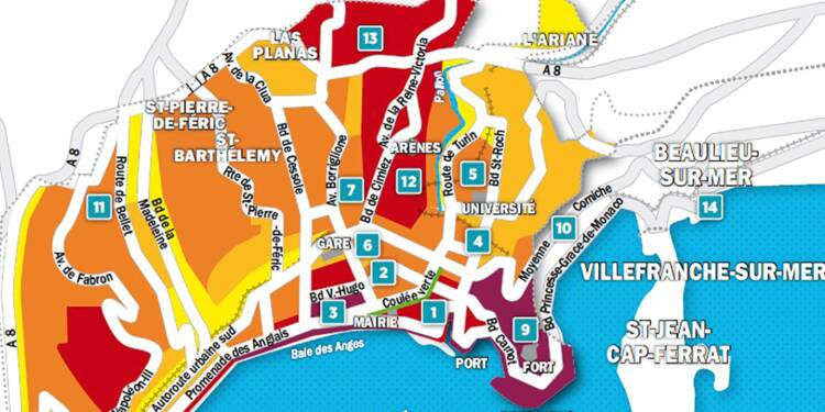 Immobilier à Nice : la carte des prix 2018